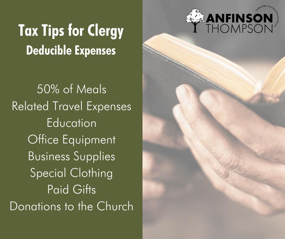 clergy tax tips